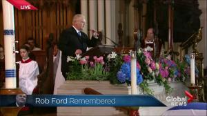Doug Ford delivers the eulogy at his brother Rob's funeral: 'He was the mayor of Canada'